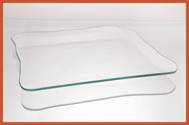 9 rounded square clear glass plate