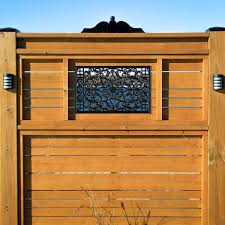 Nuvo Iron 15 In X 24 In Wrought Iron Insert For Rectangle Wooden Gate Acw61 The Home Depot