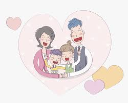 family hugging cartoon png