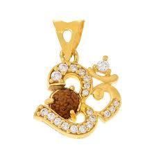 om cz rudraksha pendant om pendant