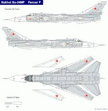 Wings Palette Sukhoi Su 24 Fencer Ussr Russia