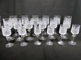 cut crystal wine and aperitif glasses