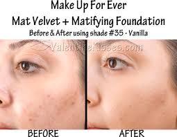 makeup forever foundation mat velvet