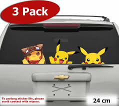 Jumbo Pack Cute Pikachu Pokemon Go Car Jdm Wall Window Sticker Vinyl Decal Window Stickers Pikachu Pokemon Go Vinyl Sticker