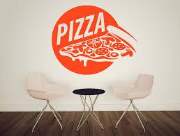 Wall Vinyl Decal Pizza Food Pizzeria Taste Cafe Restaurant Stickers Decor Unique Gift Z4734 Vinyl Wall Decals Sticker Decor Vinyl Wall Stickers
