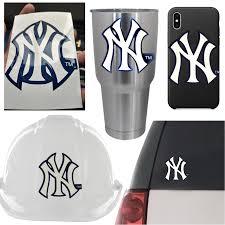 5 Ny New York Yankees Vinyl Decal Sticker 3 X 4 Car Window Bumper Laptop 9 99 Picclick