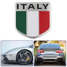 Italian Flag Pattern Shield Shape Stickers Decal Car Window Door Car Stickers Car Accessories Car Decoration Car Decal Car Stickers Aliexpress