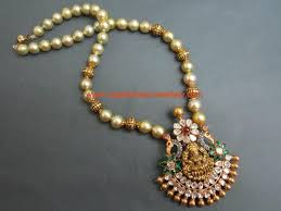 nakshi gold and pearl long chain with