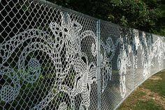 60 Chain Link Fence Art Ideas Fence Art Chain Link Fence Fence