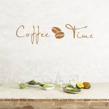 coffee time quotes vinyl wall sticker classic coffee bean wall