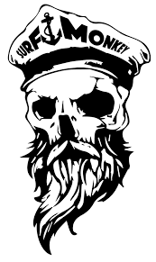 Surfmonkey Gear Decal Bearded Skull Made From Uv Resistant Vinyl Decal Is 4 Wide Car Decal Skull Beard Skull Decal Skull