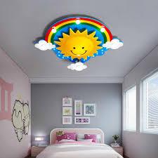 Kids Room Light Fixture Children Room Ceiling Lights For Girls Room Rainbow Sun Led Cute Bedroom Light Child Room Ceiling Lamp Ceiling Lights Aliexpress
