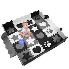 New Kids Baby Non Toxic Extra Thick Foam Large With Gate Fence Crawling Play Mat Wish