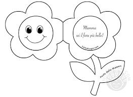 Biglietto Festa della Mamma Fiore da colorare - TuttoDisegni.com
