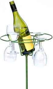 picnic wine bottle glasses holder