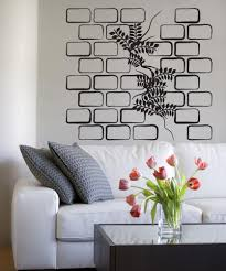 Vinyl Wall Decal Sticker Plant Through Brick Wall Os Dc794 Stickerbrand