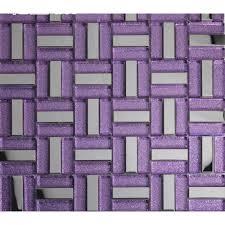 purple strip glass mosaic tile 304