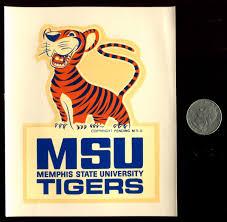 Memphis State University Tigers Vintage Souvenir Decal Nos Memphis Art Memphis Memphis Tennessee