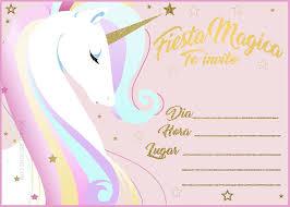 Invitaciones De Unicornio Gratis Solo Descarga La Imagen Y Imprime