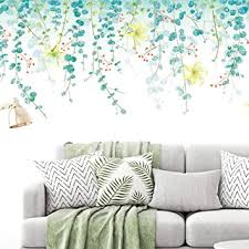 Amazon Com Wall Stickers Eco Friendly Green Vine Wall Decals Bedroom Living Room Sofa Tv Background Wall Stickers Removable Diy Large Stickers Baby