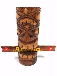 tiki totem with aloha sign hawaiian gifts