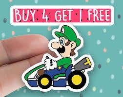 4 5 Mario Shell Vinyl Decal Sticker Car Window Laptop Retro Game Kart Race