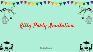 free kitty party invitation card