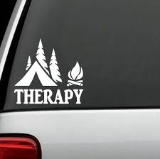 2 Count Therapy Camping Camper Camp Decal Sticker Hike Hiker Hiking Tent F1070 For Sale Online