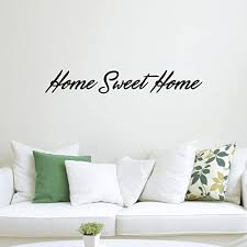 Amazon Com Home Sweet Home Inspirational Quotes Lettering Decor Vinyl Wall Art Decal 6 X 40 Decoration Vinyl Sticker Living Room And Kitchen Wall Decals Greeting Welcome Entrance Home Kitchen