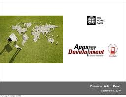 The World Bank Presentation by Adam Boalt