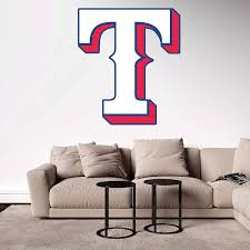 Amazon Com Baseball Team Logo Wall Decal Removable Reusable For Home Bedroom Wide 20 X 23 Height Home Kitchen