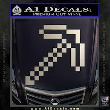 Minecraft Pickaxe Decal Sticker A1 Decals