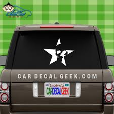 Awesome Star Skull Vinyl Car Window Decal Sticker