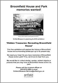 broomfield house and park your memories wanted palmers green