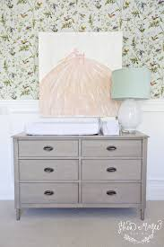 gray changing table transitional