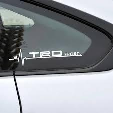 2pcs Car Styling Trd Sport Emblem Decal Car Windows Sticker For Toyota Trd Crown Reiz Corolla Camry Vios Accessories Car Stickers Aliexpress