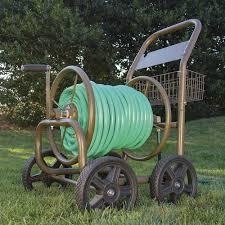 4 wheel industrial hose reel cart at