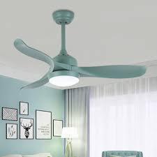 16 54 Wide Creative Macaroon Style Propeller Green Chandelier Ceiling Fan For Kids Room 3 Blade Takeluckhome Com
