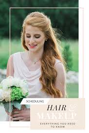 scheduling wedding hair makeup what