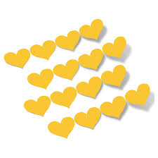 Yellow Hearts Vinyl Wall Decals Shapes Patterns Decalvenue Com Decal Venue