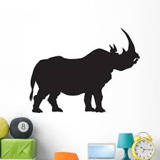 Silhouette Rhino Wall Decal Wallmonkeys Com