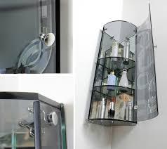 crystal grey bathroom corner glass