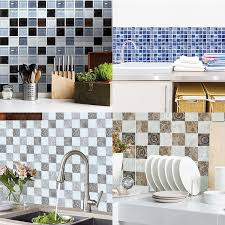 Self Adhesive Tile Sticker Kitchen Backsplash Bathroom Wall Tile Stickers Decor Waterproof Tiles Wish