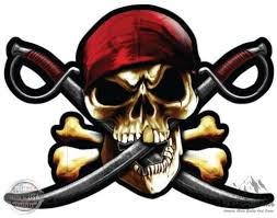 Amazon Com Gt Graphics Pirate Skull Crossbones Large Size Vinyl Sticker Decal For Truck Car Cornhole Board Clothing