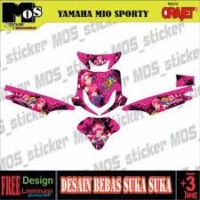 Anime Cartoon Motorcycle Mio Sporty Car Sticker Shopee Malaysia