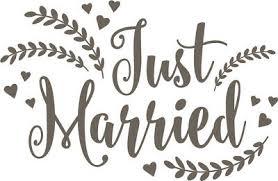 Just Married Vinyl Decal Sticker Pinterest Words Lettering Ebay
