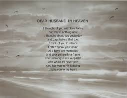 missing husband in heaven quotes dear husband in heaven memorial