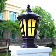Best Promo Outdoor Waterproof Fence Head Lamp European Outdoor Garden Lamp Landscape Garden Light Solar Villa Door Column Lamp Lu8101107 October 2020