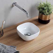 glam small round ceramic vessel sink