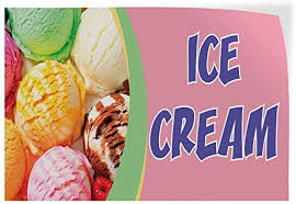 Amazon Com Ice Cream 1 Indoor Store Sign Vinyl Decal Sticker 8 Office Products